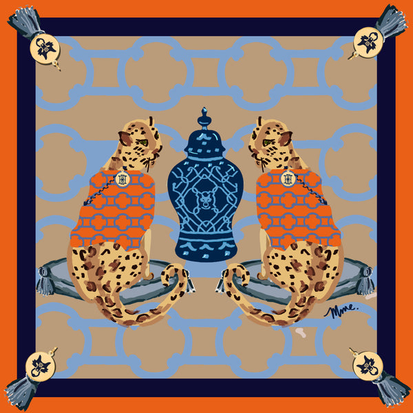 "MME. Signature LEOPARDS"" Scarf 20""x20"""