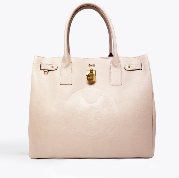 THE HERITAGE TOTE in Nude GRAND