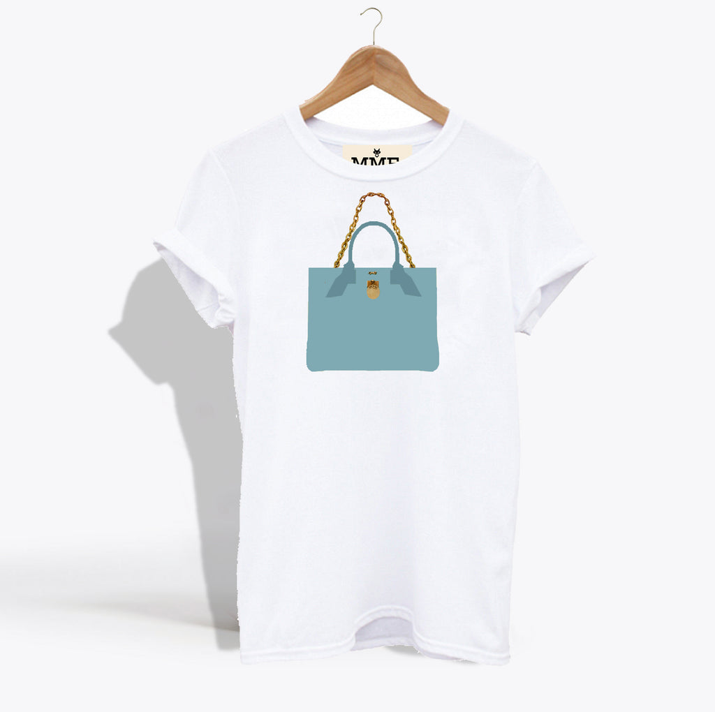 MME. BRUNCH TOTE TEE - TIFFANY BLUE