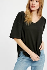 Oversized Thermal Top-Black
