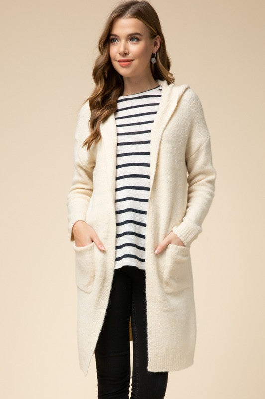 Cream Hooded Duster