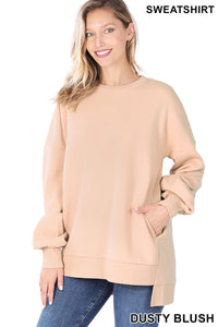 Hi-Low Hem Sweatshirt