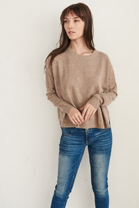 Oatmeal Lightweight Easy Sweater