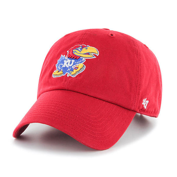 Kansas Jayhawks Red 47 Clean Up Hat