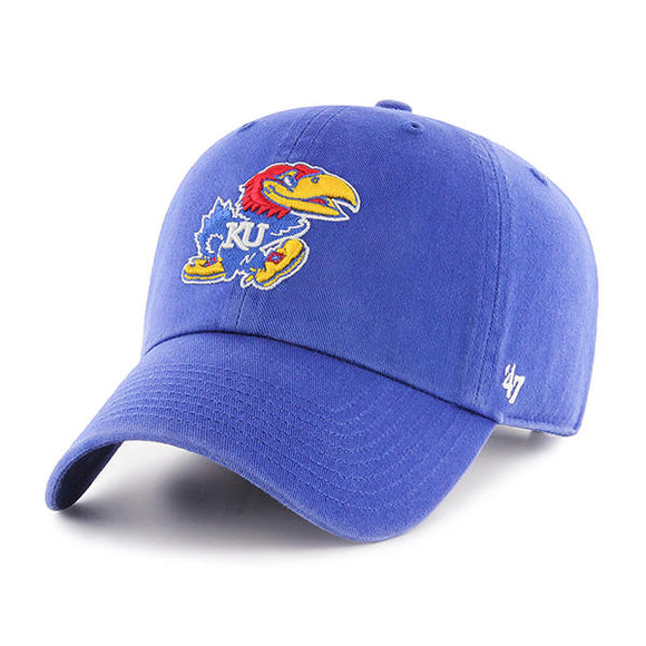 Kansas Jayhawks Royal 47 Clean Up Hat