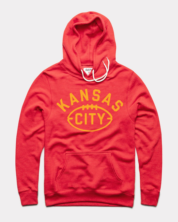 Kansas City Football Hoodie by Charlie Hustle