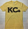 Yellow Leopard KC Heart Graphic Tee