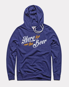 Here for the Beer Fleece Hoodie by Charlie Hustle