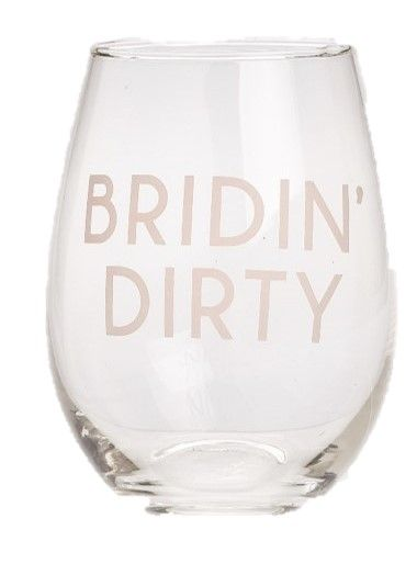 Bridin Dirty Stemless Wine Glass