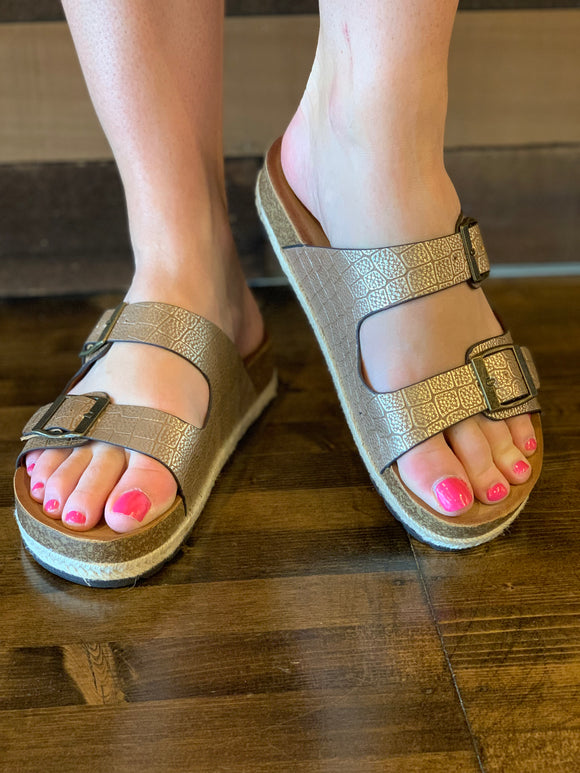 Corkys King Sandal in Copper