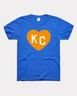 Royal Blue Crown Town KC Heart Vintage Tee