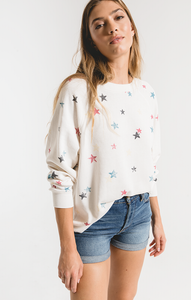 The Distressed Star Pullover by Z Supply