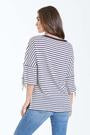 Eva Stripe Tee with Tie Sleeve