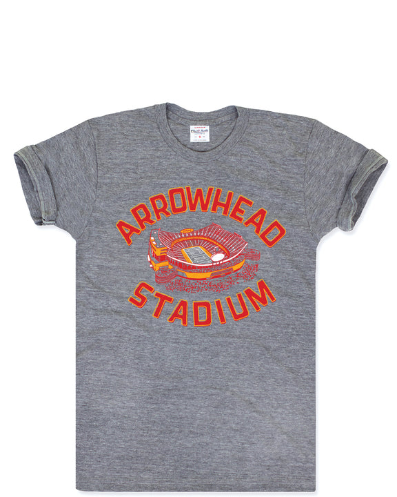 Arrowhead Stadium Vintage Tee by Charlie Hustle