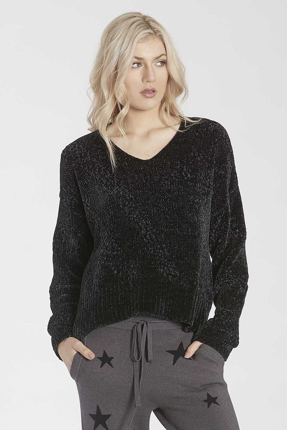 Holly V-Neck Chenille High Low Sweater