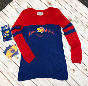 University of Kansas Two-Tone Tunic
