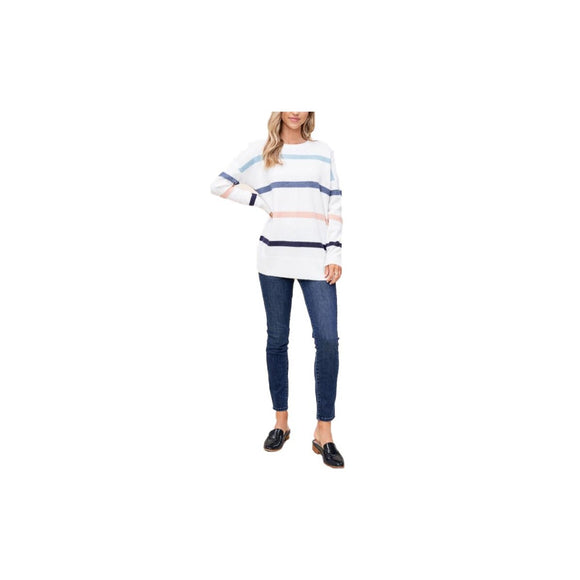 Ivory muti color stiped sweater