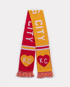 Red & Yellow Kansas City Heart Scarf by Charlie Hustle