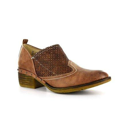 Corky's Brown Distressed Kia Bootie