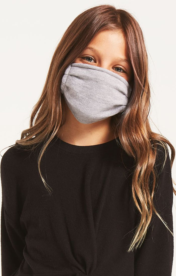 Kids Heather Grey Mask by Z Supply