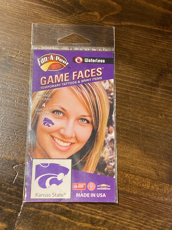 Kansas State Waterless Tattoos