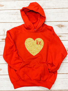 Red KC Youth Heavy Blend Hooded Sweatshirt