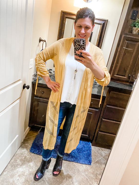 Jin Long Cardigan by Dear John in Canary Yellow