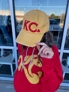 Mustard KC Heart Hat