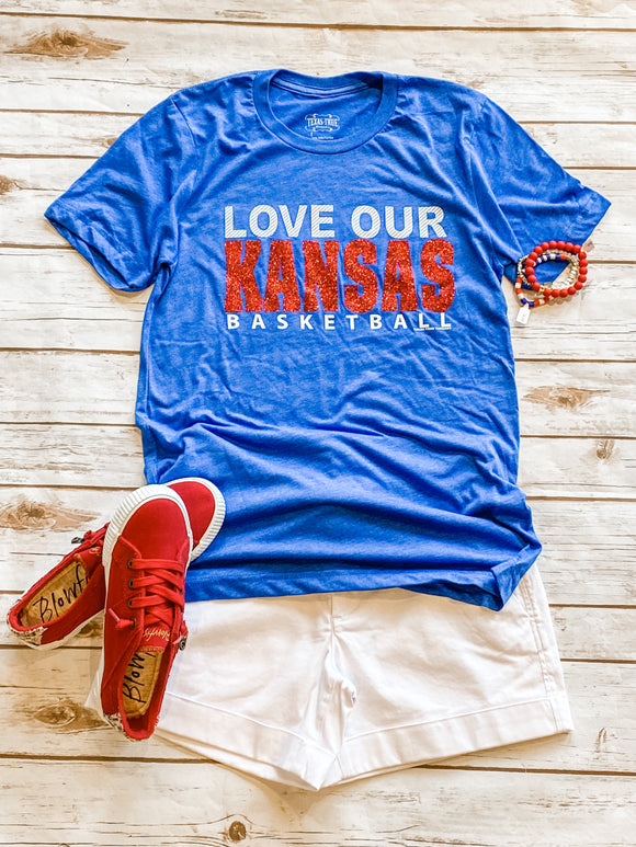 Love Our Kansas Basketball Tee