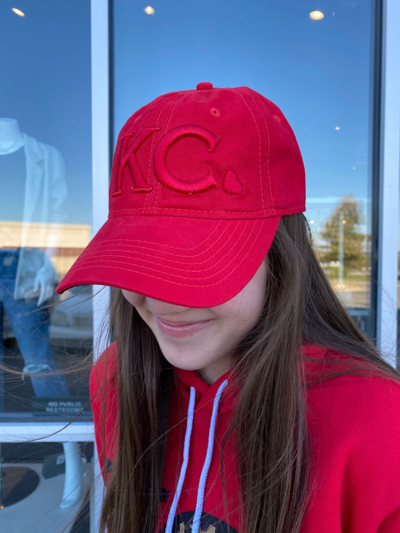 Red KC Heart Hat
