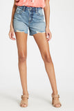 Ivy High Rise Distressed Denim Shorts by Dear John