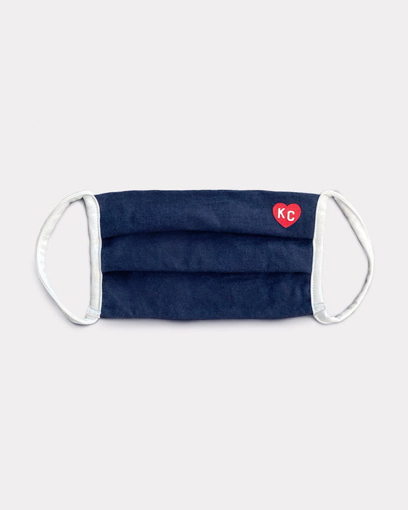 Navy & Red KC Heart Comfort Face Mask