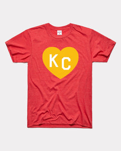 Red & Gold KC Heart Graphic Tee by Charlie Hustle