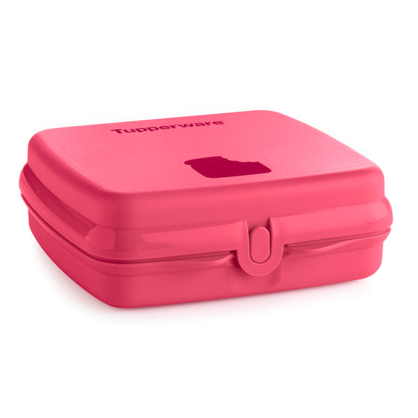 contenedor cuadrado cuadrilunch - color cereza - tupperware