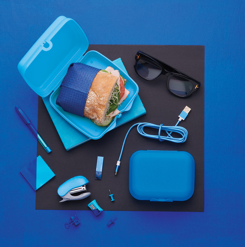Contenedor cuadrado cuadrilunch - color azul - tupperware