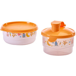 Set Baby Shower conejo - dosificador de leche - Tupperware