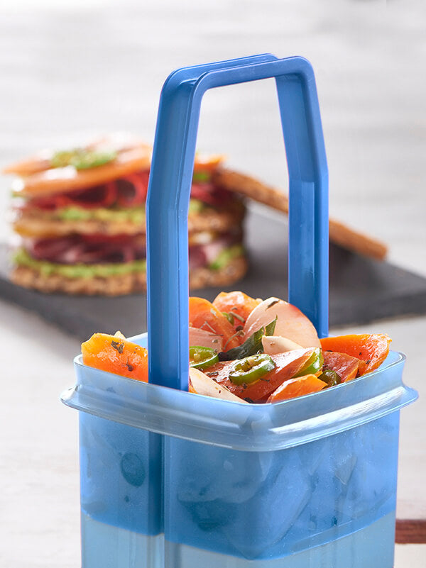 recipiente picadilly - con colador y tapa - tupperware