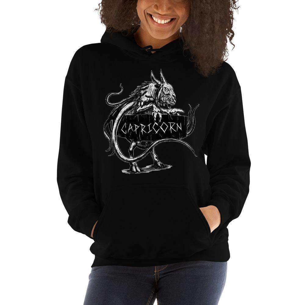 HorrorScopes Hoodie Capricorn White Design Adult-Nightmare Threads