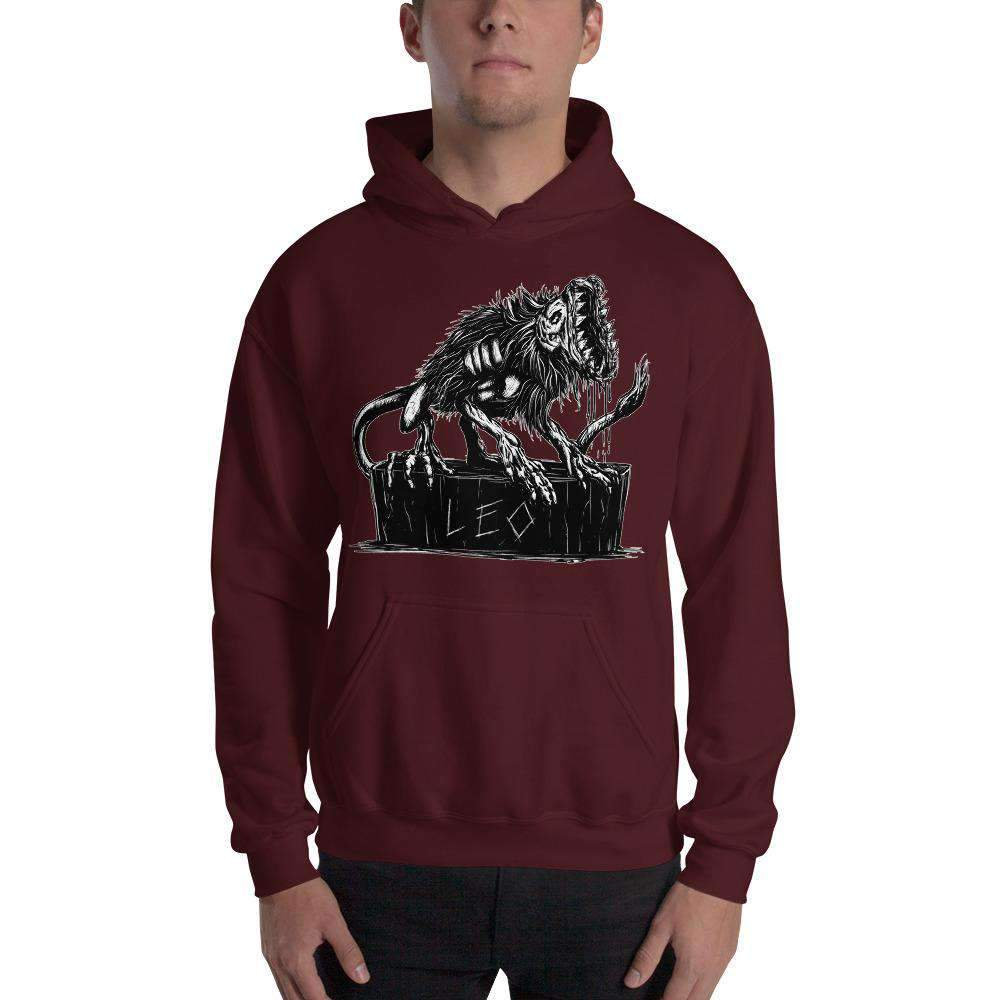 HorrorScopes Hoodie Leo White Design Adult-Nightmare Threads
