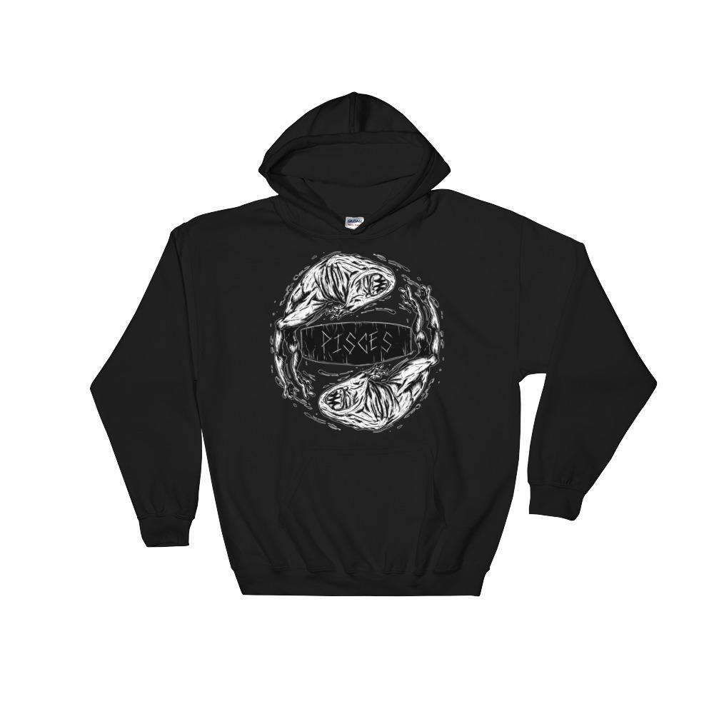 HorrorScopes Hoodie Pisces White Design Adult-Nightmare Threads