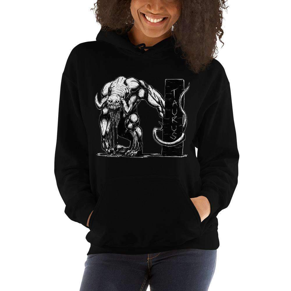 HorrorScopes Hoodie Taurus White Design Adult-Nightmare Threads