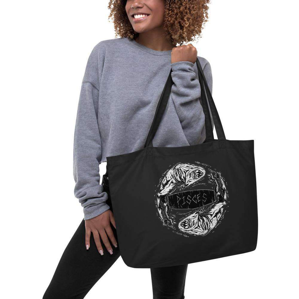 Horrorscopes Tote Bag Pisces Accessory-Nightmare Threads