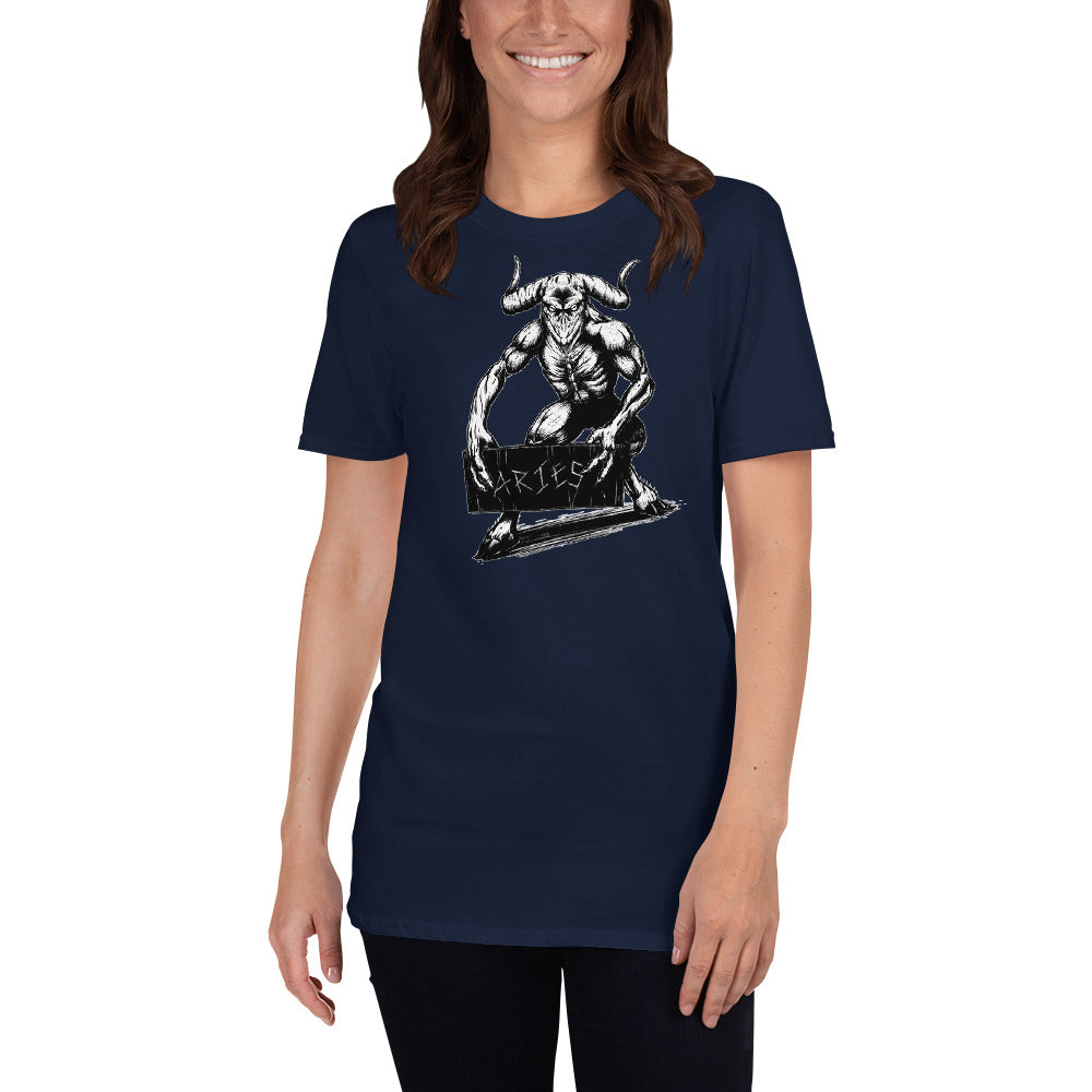 HorrorScopes T Shirt Aries Zodiac Design Adult