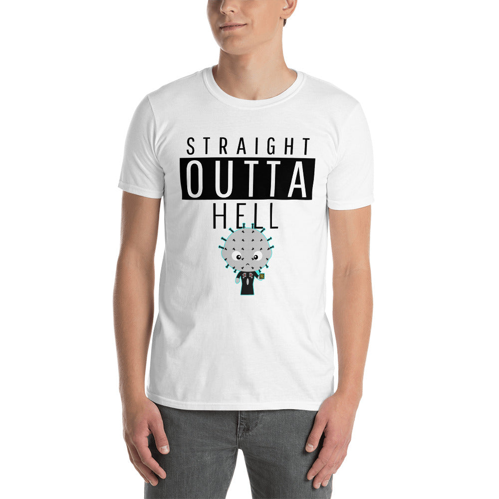 Straight Outta Hell Adult Hellraiser T Shirt