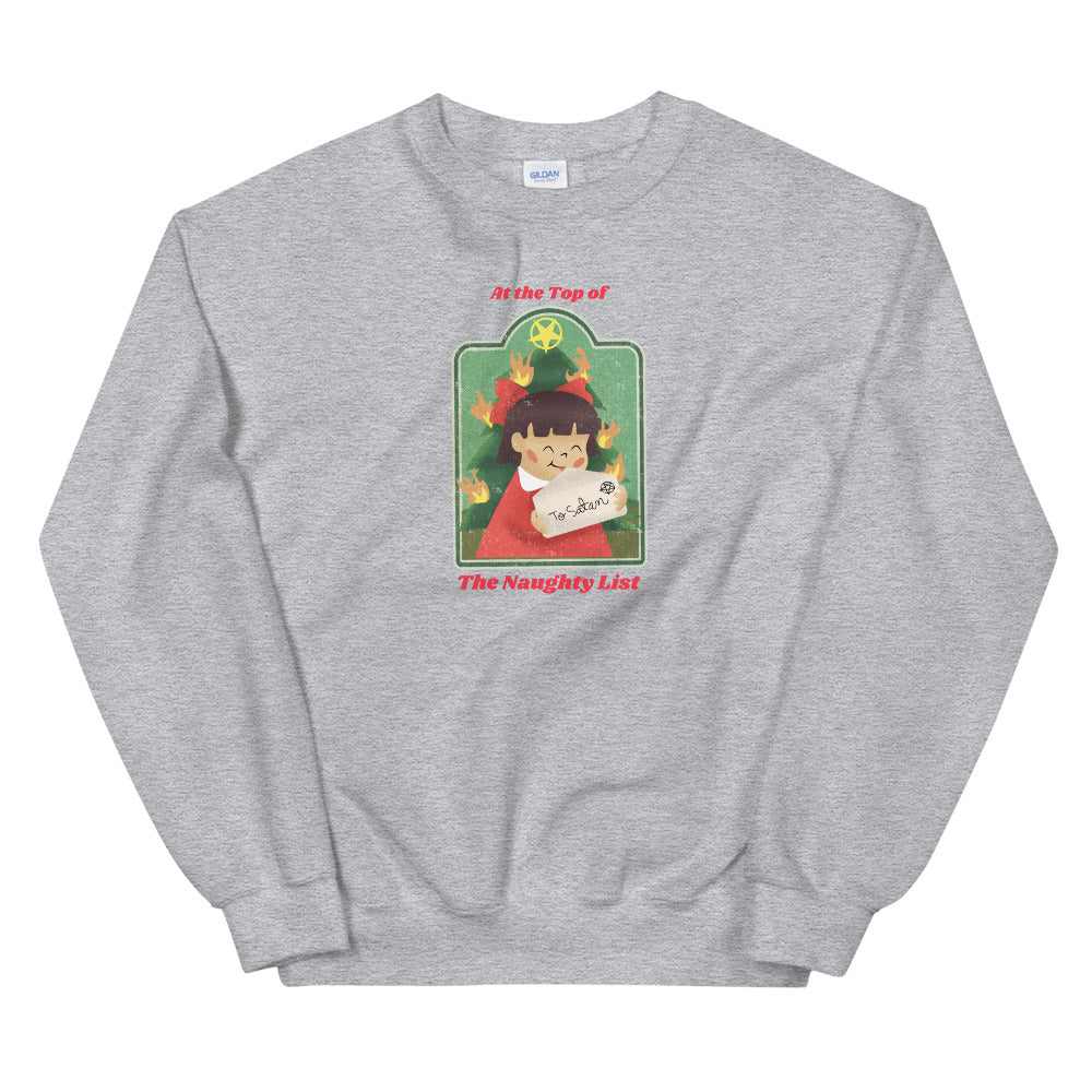 Evil Elementary Naughty List Adult Horror Sweatshirt