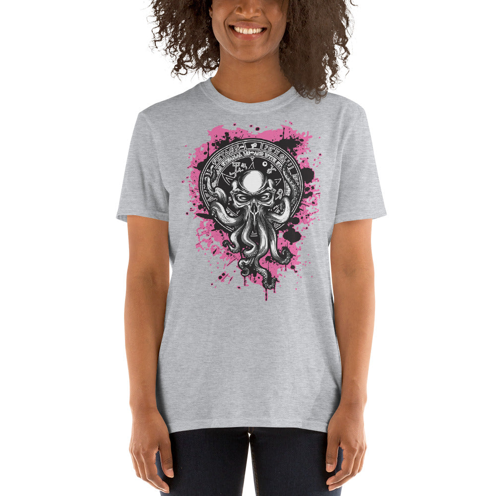 H.P. Lovecraft Cthulhu Pink Design Unisex Shirt