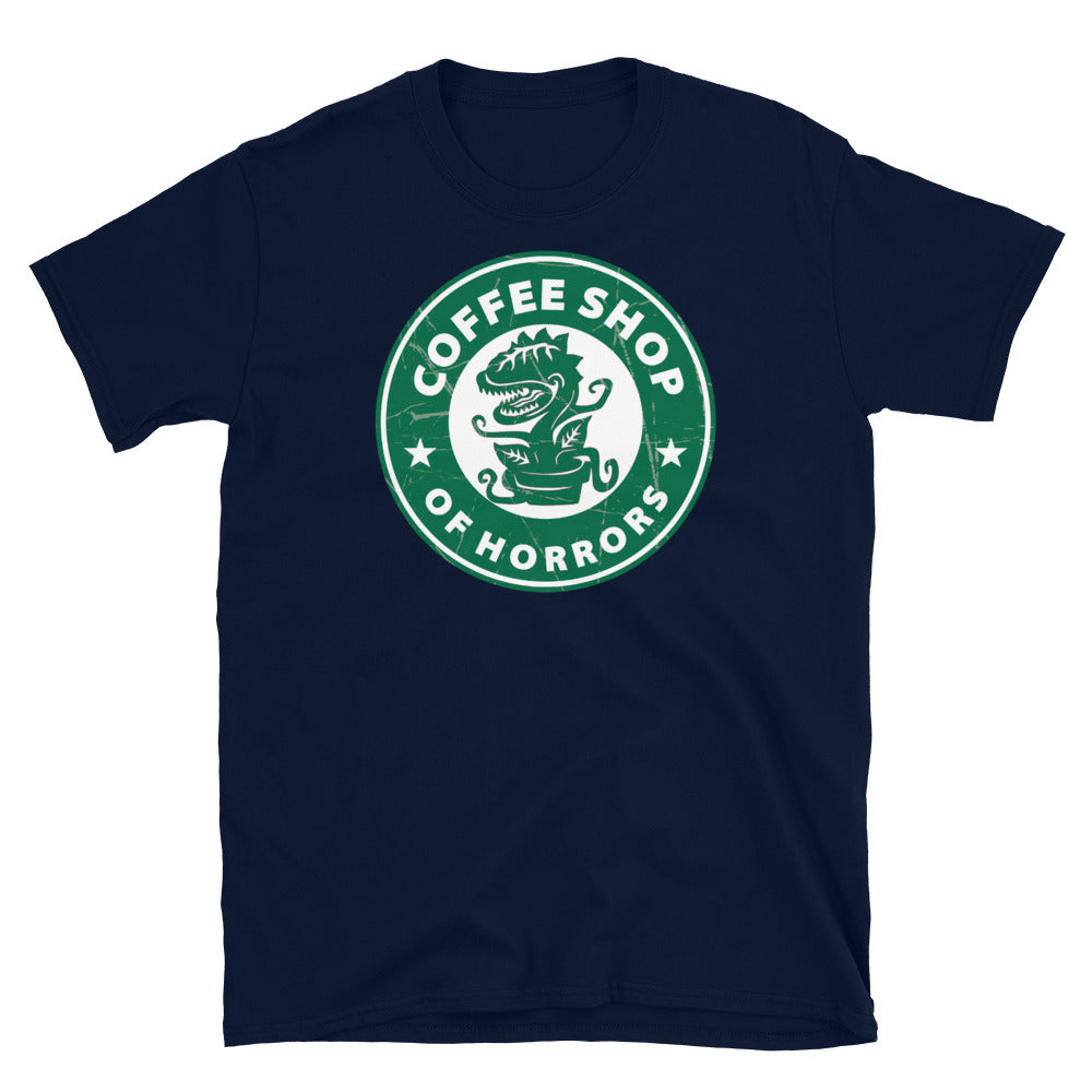 Coffee Shop of Horrors Adult Horror T Shirt