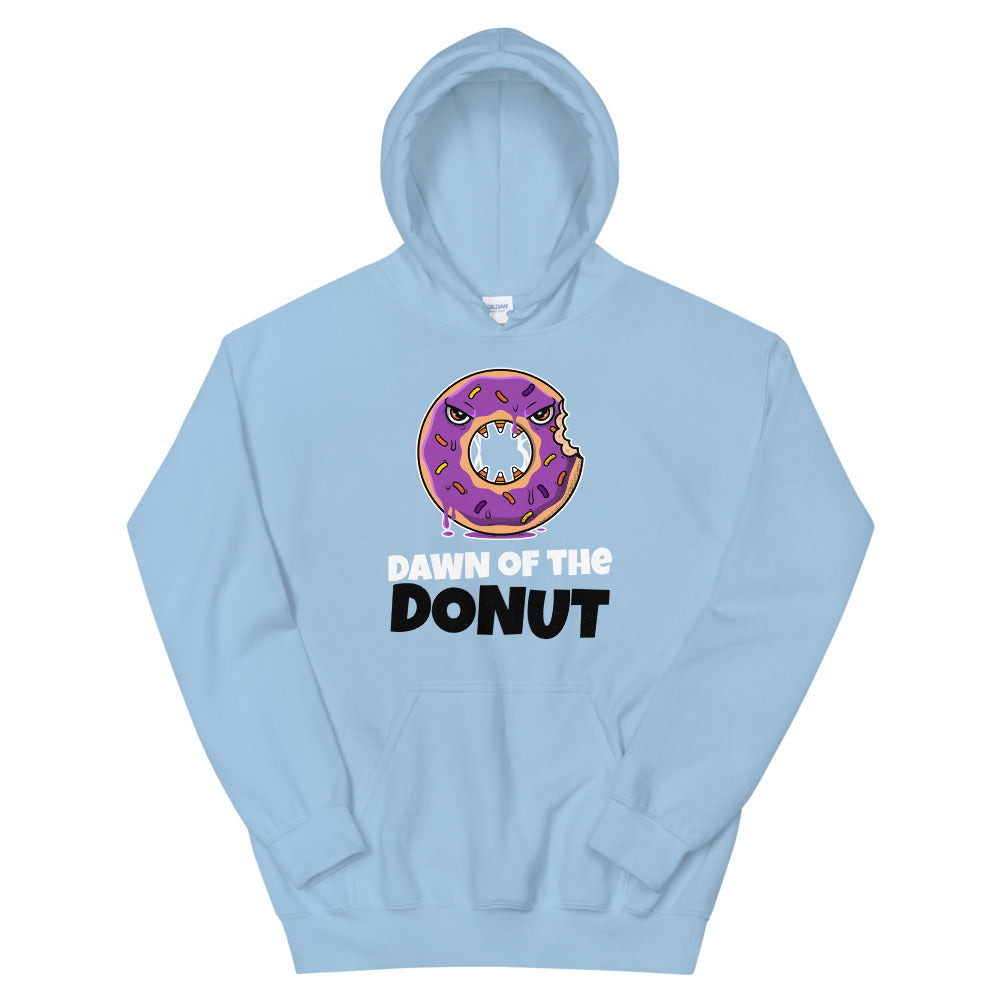 Zombie Bites Dawn of the Donut Funny Horror Hoodie
