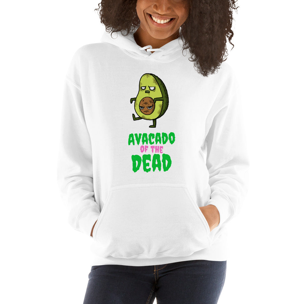 Zombie Bites Avocado of the Dead Funny Horror Hoodie