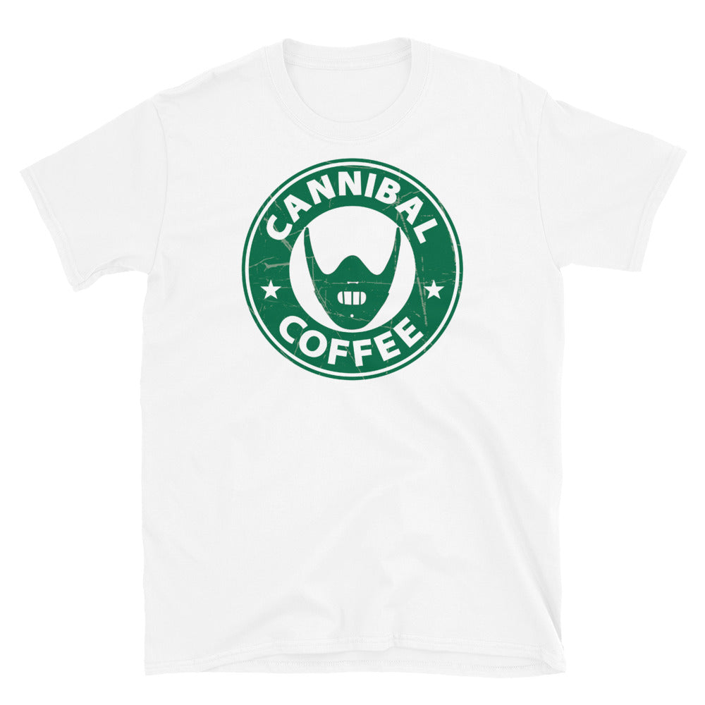 Coffee Shop of Horrors Cannibal Coffee Adult Horror T Shirt
